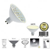 Ampoule Super LED Blanc chaud GU10 MR30 8 Watts