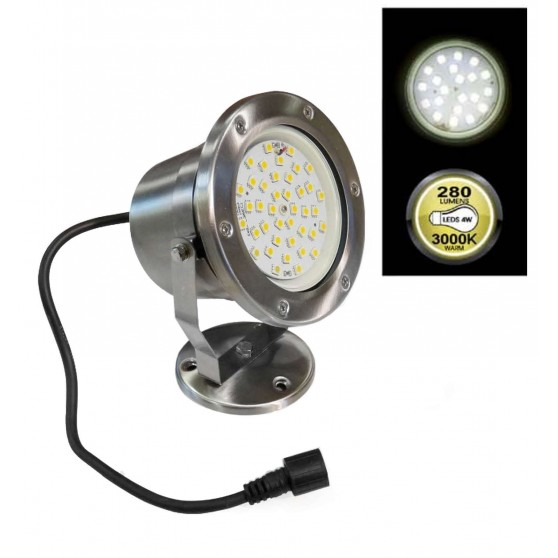 Projecteur LED Orientable en Inox Grand modèle