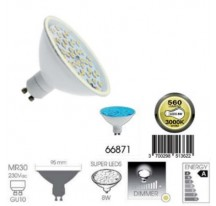 Ampoule Super LED Bleu GU10 MR30 8 Watts
