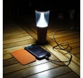 Lampe Butterfly Solaire Grise
